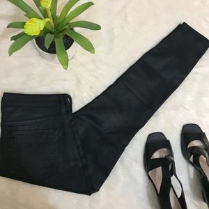 NWT Express Jeans Ankle Zip Legging Waxed Denim 6